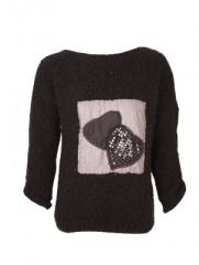 Mar�a Blanco - Sweater Apliques con Corazones