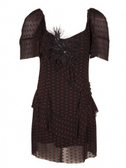 Delmira - Vestido Cuore Red Negro