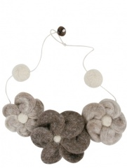 Don Baez - Collar De Fieltro 3 Flores